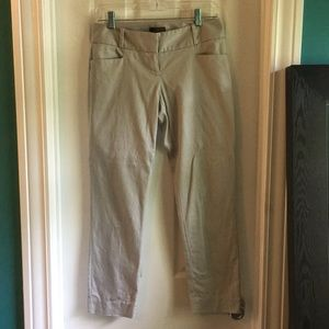 The Limited grey cropped dress pants